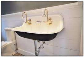 trough sink with 2 faucets bathroom trough sink with 2 faucets sinks and faucets home