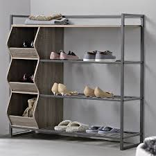 shoe organizer homestar 12 pair shoe rack reviews wayfair