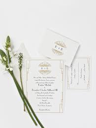 art deco wedding invitations new orleans bride winter 2018