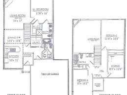 2 Story Open Floor Plans by House Plans Two Story