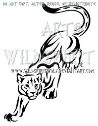 prowling panther tribal design by wildspiritwolf on deviantart