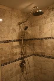 my bathroom renovation travertine tile and custom frameless