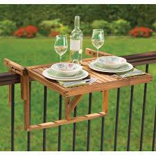 Wooden Outdoor Furniture The Instant Wooden Deck Table Hammacher Schlemmer