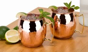 moscow mule mugs set of 2 16 oz copper moscow mule mugs groupon
