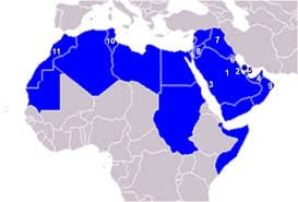 arab countries map map of the arab countries showing the participating cit open i