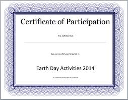event participation certificate template u2013 free template downloads