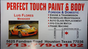 perfect touch paint u0026 body in houston tx 77036 auto body shops