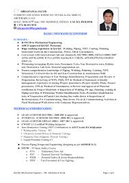 Qa Engineer Resume Piping Engineer Resume India Virtren Com