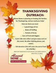 almost home in need of thanksgiving donations yourhub