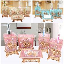 Peach Bathroom Accessories by Aliexpress Com Buy Pretty In Pink Bathroom Set Resin Wedding