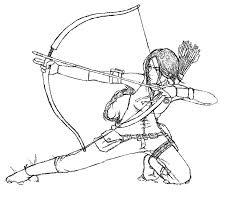 katniss u2013 hunger games coloring art