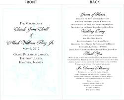 exles of wedding programs wording wedding ceremony program wording for deceased 28 images
