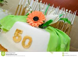 birthday cake for 50 years jubilee royalty free stock photography