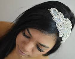 hair attached headbands uk wedding hair accessories etsy au