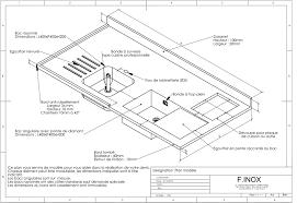 plan de travail cuisine grande largeur cuisine inox sur mesure