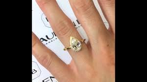 pear engagement ring 1 20 ct pear shape diamond engagement ring in yellow gold