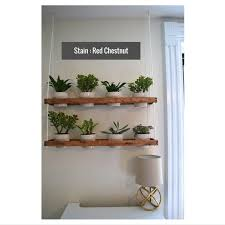 Indoor Wall Herb Garden 2 Tier Hanging Indoor Wall Planter Made To Order By