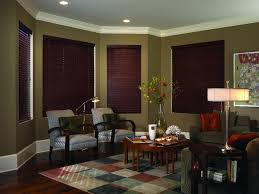 Wooden Blinds With Curtains Century Blinds 3 Blind Mice Window Coverings