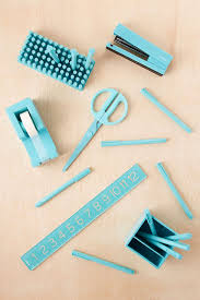Blue Desk Accessories Poppin Turquoise Desk Accessories Everything Turquoise