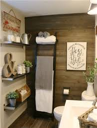 bathroom wall decorations ideas farmhouse bathroom wall decoration with wooden paneling for