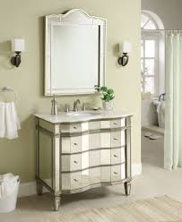 Bathroom Vanities Mirrors Adelina 36 Inch Mirrored Bathroom Vanity Imperial White Marble