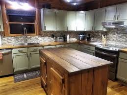 wood kitchen island top diy live edge hickory wood top kitchen island project