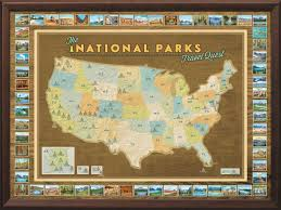 World Map Framed National Parks Push Pin Map Framed And Personalized From