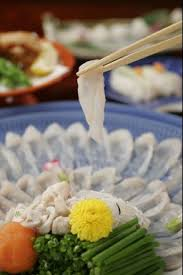 cuisine tessa plate of fugu sashimi tessa japanese puffer fish as winter
