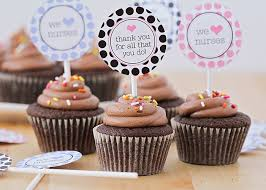 cupcake toppers thank you gifts printable cupcake toppers somewhat simple