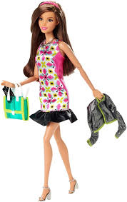 amazon com barbie style glam doll with pink retro print dress
