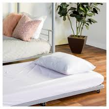 twin roll out trundle bed frame silver saracina home target