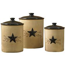 Kitchen Canisters Ceramic Sets Park Designs Star Vine Collection Star Vine Canisters S 3