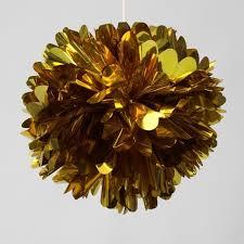 mylar tissue paper 12pcs 12 inch metallic gold tissue paper pom poms mylar foil