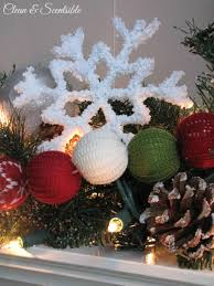 frosted pipe cleaner snowflake ornaments handmade ornament no