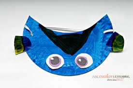 paper plate dory visor fun family crafts