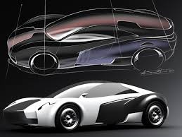 electric sports cars pagani u0027s designer antonio bruni sketches his idea for an electric