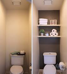 water closet makeover shelves storage and water