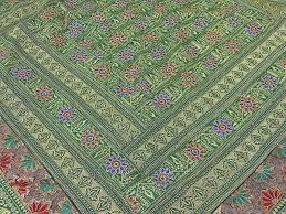 Green Duvet Cover King Green Duvet Cover Set Embroidered Indian Bedding Pillow Shams