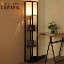 Led Floor Lamp 2018 Creative Commodity Shelf Wood Floor Lamp Art Practical Led