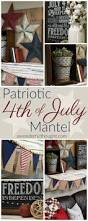 patriotic 4th of july mantel a wonderful thought get ideas for your decor from this patriotic 4th of july mantel awonderfulthought com
