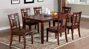 amazon dining table and chairs cherry dining room sets amazon com furniture of america dallas 9