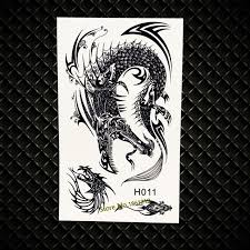 cool flying dragon temporary tattoo stickers 3d fake flash henna