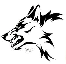 simple wolf drawings free best simple wolf drawings on