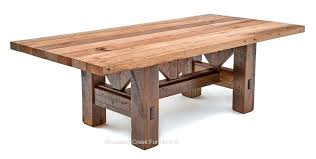 reclaimed wood farmhouse table timber frame dining table salvaged barn wood rustic old old wooden