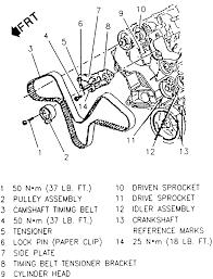 lexus rx300 timing belt repair guides engine mechanical timing belt and tensioner
