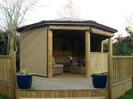 Patio Gazebos by Natural Wooden Gazebo With Sides Design Ideas Gazebo Ideas