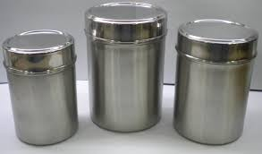 Silver Kitchen Canisters by Epic Kitchen Canisters Stainless Steel 14 With Additional With