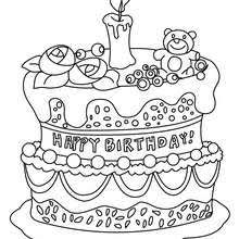 birthday coloring sheets birthday cake 3 years coloring pages hellokids com