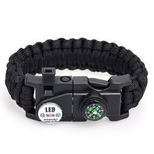 survival bracelet with whistle images Survival bracelet essential survival gear kit with sos led light jpg