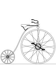 penny farthing bicycle coloring page free printable coloring pages